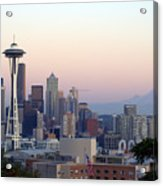 Seattle Acrylic Print by Larry Keahey
