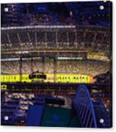 Seattle Mariners Safeco Field Night Game Acrylic Print