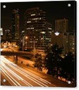 Seattle Night Time Acrylic Print
