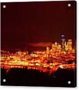 Seattle Night Traffic Too Acrylic Print