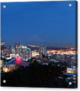 Seattle Panorama At Twilight Acrylic Print