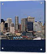 Seattle Panoramic Acrylic Print by Adam Romanowicz