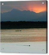 Seattle Shilshole Bay Sunset  Acrylic Print