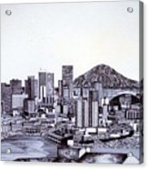 Seattle Skline Acrylic Print