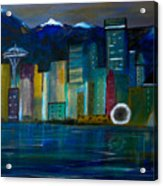 Seattle Skyiline Acrylic Print