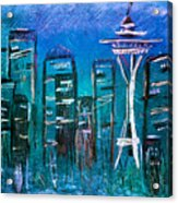 Seattle Skyline 2 Acrylic Print by Melisa Meyers