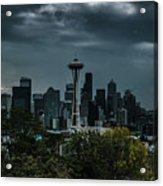 Seattle Skyline - Dramatic Acrylic Print