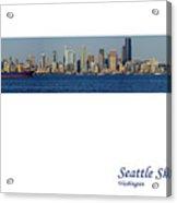 Seattle Skyline From Alki Acrylic Print