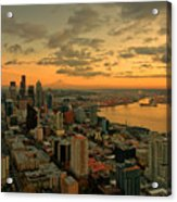 Seattle Sunset Acrylic Print