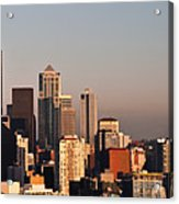 Seattle Sunset Panorama Acrylic Print
