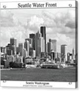 Seattle Water Front Acrylic Print