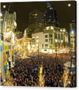 Seattle Westlake Tree Lighting Acrylic Print