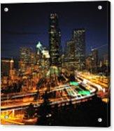 Seattle Zooming C087 Acrylic Print