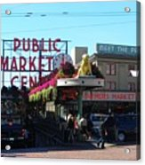 Seattle's Pike Place Market Center  Acrylic Print