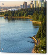 Seawall Along Stanley Park In Vancouver Bc Acrylic Print