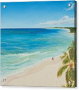 Secluded Beach Walk Acrylic Print