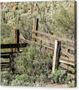 Secluded Historic Corral In Sonoran Desert Acrylic Print