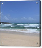 Secluded Remote Beach Of Boca Keto In Aruba Acrylic Print