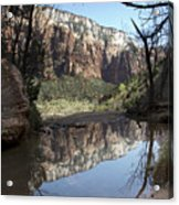Second Emerald Pool Acrylic Print by Kenneth Hadlock