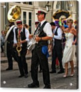 Second Line Wedding On Bourbon Street New Orleans Acrylic Print