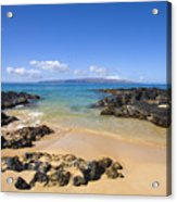 Secret Beach Of Kahoolawe And Molokini Acrylic Print