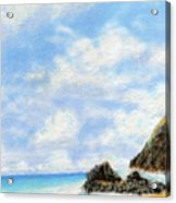 Secret Beach Sky Acrylic Print