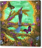 Secret Butterfly Garden Acrylic Print