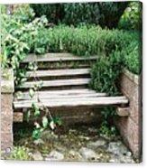 Secret Garden Bench Acrylic Print