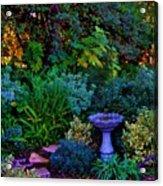 Secret Garden Acrylic Print by Helen Carson