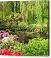 Secret Garden Pond Acrylic Print