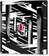 Secret Red Door Acrylic Print by Gerlinde Keating - Galleria GK Keating Associates Inc