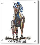 Secretariat At The Belmont Mural Acrylic Print