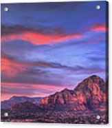 Sedona Arizona At Sunset Acrylic Print by Eddie Yerkish