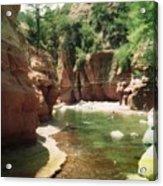 Sedona River Rock Oak Creek Acrylic Print