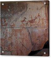 Sedona Rock Art Panel Acrylic Print