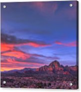 Sedona Sunset Acrylic Print by Eddie Yerkish