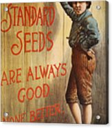 Seed Company Poster, C1890 Acrylic Print