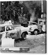 Segregationist Riot At Old Miss. Burned Acrylic Print