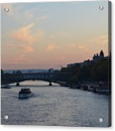 Seine At Sunset Acrylic Print