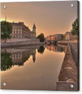 Seine River In Morning, Paris Acrylic Print