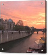Seine River Acrylic Print