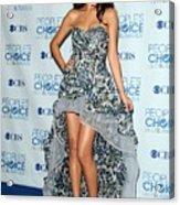 Selena Gomez Wearing An Irina Shabayeva Acrylic Print by Everett