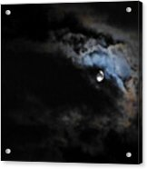 Selene Peaking From The Clouds Acrylic Print