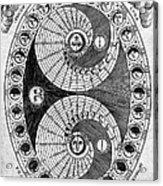 Selenic Shadowdial, Lunar Chart, 1646 Acrylic Print