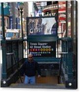 Self At Subway Stairs Acrylic Print by Rob Hans