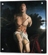 Self Portrait As St. Sebastian Acrylic Print by Eric  Armusik