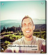 Self Portrait From A Mountain Top Acrylic Print