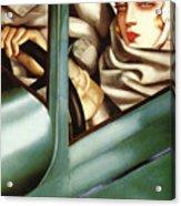 Self Portrait In A Green Bugatti Acrylic Print
