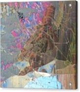 Self Portrait In Broken Glass Found In Graffiti Alley Acrylic Print