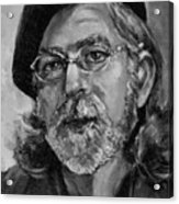 Self Portrait In Grey Acrylic Print
